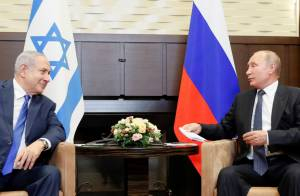 Netanyahu Arrives in Moscow, Meets with Vladimir Putin