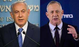 UNITY GOVERNMENT TALKS: NETANYAHU MEETS WITH BENNY GANTZ AT PRIME MINISTER'S' RESIDENCE