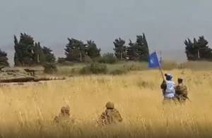 ISRAELI TANK FACES LEBANESE SOLDIERS, UNIFIL AFTER CROSSING FENCE