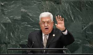 ABBAS: ANY ISRAELI APPLICATION OF SOVEREIGNTY IS 'NULL AND VOID'