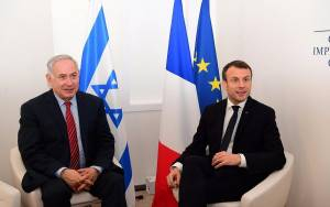 IN PHONE CALL, FRANCE'S MACRON ASKS NETANYAHU TO DROP WEST BANK ANNEXATION BID