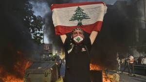 RAVAGED BY ECONOMIC, HEALTH CRISES, LEBANESE PROTESTERS FORCE NASRALLAH TO SHIFT COURSE
