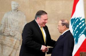 Pompeo Discussed Israel-Lebanon Common Maritme Boundary With President Aoun