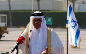 BAHRAIN FM LANDS IN ISRAEL FOR FIRST-EVER MINISTERIAL VISIT FROM GULF NATION