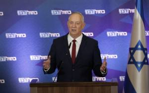 GANTZ SAYS PARTY WILL VOTE TO DISSOLVE KNESSET, SETTING STAGE FOR NEW ELECTIONS