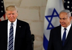 BOARDING PLANE, NETANYAHU TOUTS 'BEST EVER RELATIONS WITH U.S. PRESIDENT'