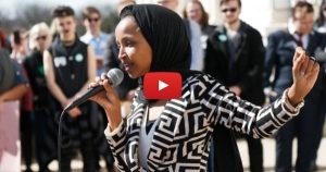 WATCH: Omar Jeered by Hundreds as She Arrives at CAIR Event