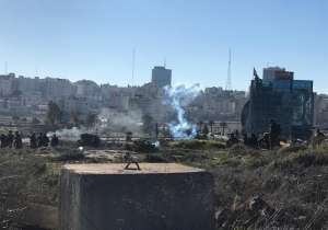 Hundreds Clash with Israeli Forces North of Ramallah