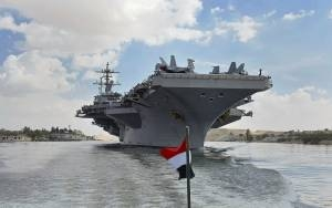 WAR TALK GRIPS IRAQ AS STORIED U.S. CARRIER RETURNS TO GULF