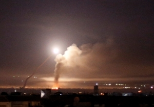 REPORT: SYRIAN AIR DEFENSES INTERCEPT MISSILES NEAR DAMASCUS