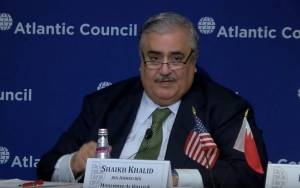 BAHRAINI FM: IF NOT FOR IRAN'S SUPPORT OF HAMAS, WE'D BE CLOSER TO MIDEAST PEACE