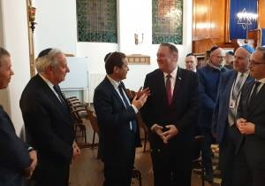 POMPEO IN HALLE: WORLD MUST WORK TOGETHER TO FIGHT ANTISEMITISM