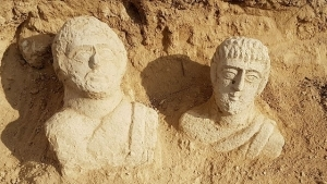 Heavy Rains Expose Ancient Statues in Beit She'an