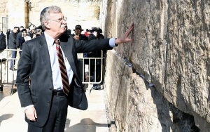 TOP TRUMP AIDE BOLTON VISITS WESTERN WALL, STOKING PALESTINIAN FURY
