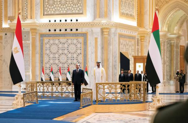 EGYPT AND UAE PUSH TO BE 'PILLARS OF STABILITY' IN MIDDLE EAST