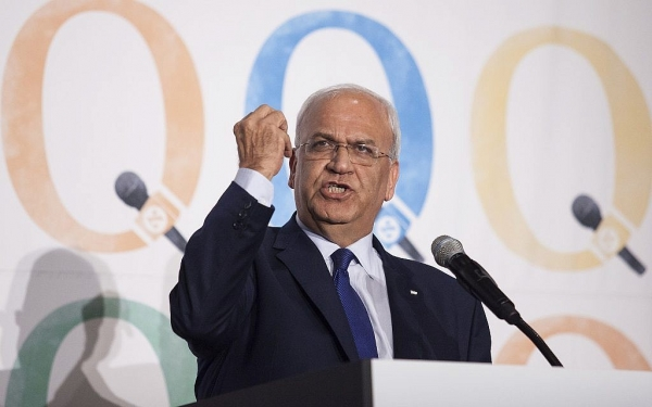 Erekat Slams Australian Recognition of West Jerusalem as Israel's Capital