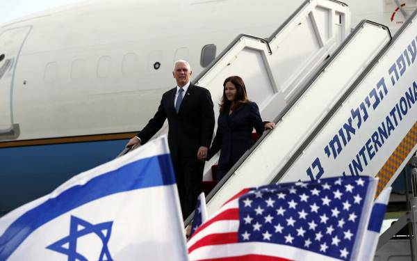 PENCE SAID PLANNING ISRAEL VISIT A WEEK BEFORE BIDEN'S INAUGURATION