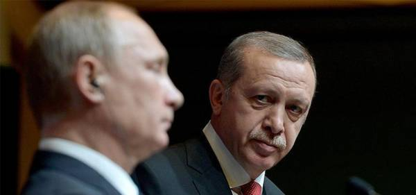 ERDOGAN TO DISCUSS WITH PUTIN PRESENCE OF ASSAD'S ARMY IN NORTHERN SYRIA